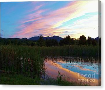 Adirondack Reflections 2 Canvas Print by Peggy Miller