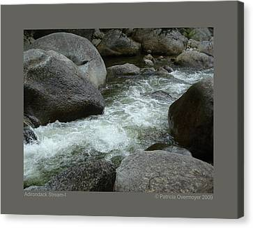 Adirondack Stream-i Canvas Print by Patricia Overmoyer