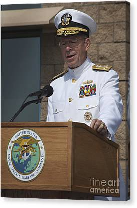 Admiral Mike Mullen Speaks Canvas Print by Michael Wood