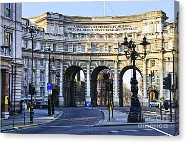 Admiralty Arch In Westminster London Canvas Print by Elena Elisseeva