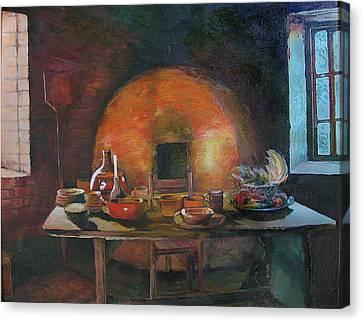 Adobe Oven House Canvas Print by Natalya Shvetsky