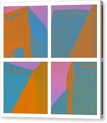 Adobe Walls Four-up Canvas Print by Carol Leigh