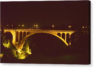 Canvas Print featuring the photograph Adolphe Bridge  by Dennis Lundell