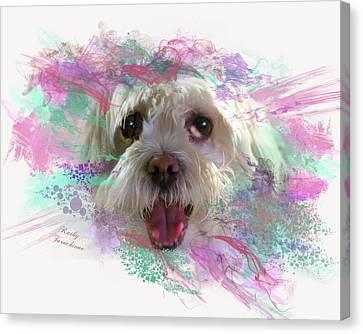 Adopt Me Canvas Print by Kathy Tarochione