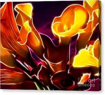 Adorable Purple Calla Lilies Canvas Print by Pamela Johnson
