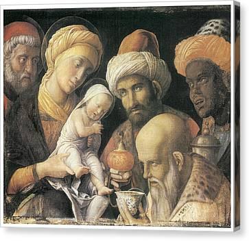 Adoration Of The Magi Canvas Print by Andrea Mantegna