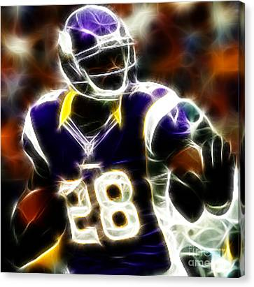 Adrian Peterson 02 - Football - Fantasy Canvas Print by Paul Ward