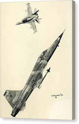 Adversaries Canvas Print by Mark Jennings