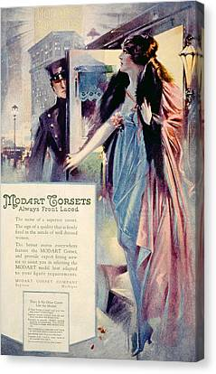 Advertisement For Modart Corsets, 1920 Canvas Print by Everett