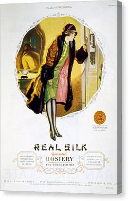 Advertisement For Real Silk Brand Canvas Print by Everett