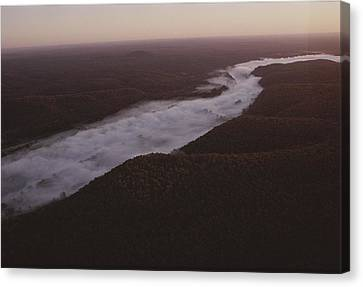 Aerial Of The Buffalo River Canvas Print by Randy Olson