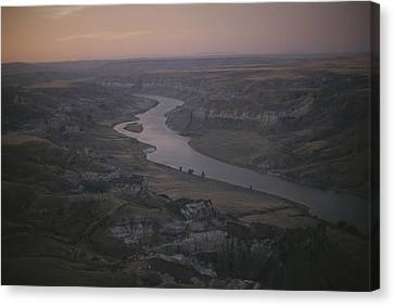 Aerial Of The Missouri River Canvas Print by Sam Abell