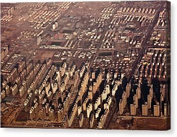Aerial View Of Beijing Suburb, Tongzhou Distr Canvas Print by Jialiang Gao