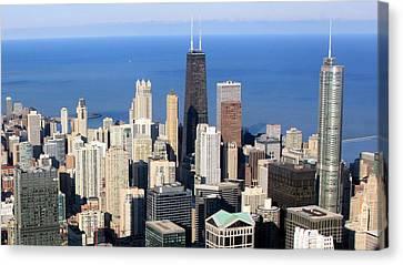 Aerial View Of Chicago Canvas Print by Luiz Felipe Castro