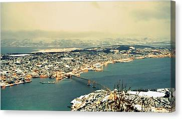 Aerial View Of City Canvas Print by Piero Damiani