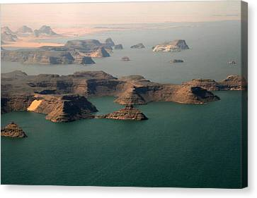 Aerial View Of Lake Nasser, Egypt Canvas Print by Joe & Clair Carnegie / Libyan Soup