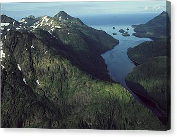 Aerial View Of The Alaskan Shores Canvas Print by Karen Kasmauski