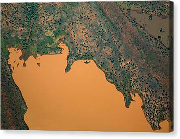 Aerial View Of Uncultivated Landscape Canvas Print by Tobias Titz