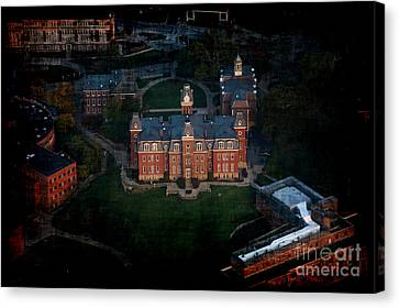 Aerial Woodburn Hall In Evening Canvas Print by Dan Friend