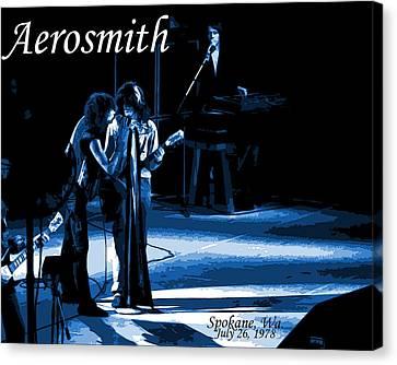 Aerosmith In Spokane 12c Canvas Print by Ben Upham