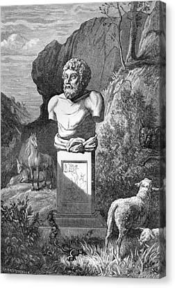 Aesop, Ancient Greek Fabulist Canvas Print by
