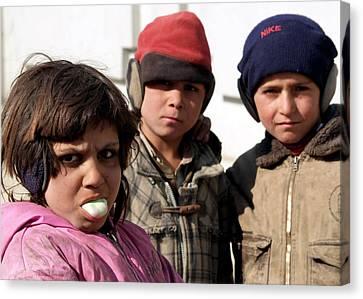 Afghan Children Canvas Print