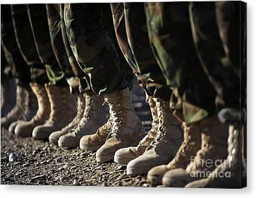 Afghan National Army Air Corp Soldiers Canvas Print by Stocktrek Images