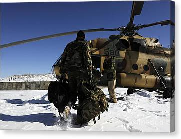 Afghan National Army Air Corps Members Canvas Print by Stocktrek Images
