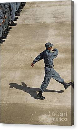 Afghan National Policemen Participate Canvas Print by Stocktrek Images