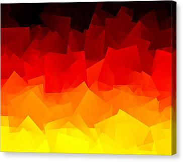 Canvas Print featuring the digital art Afire by Jeff Iverson