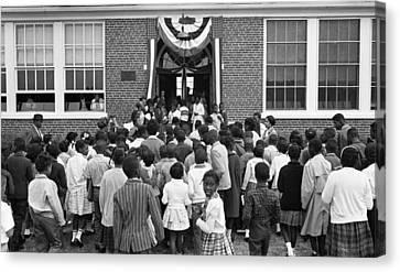 African American Children Entering Canvas Print by Everett