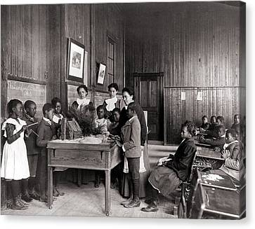 African American Children Learning Canvas Print by Everett
