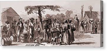 African American Freedmen Receiving Canvas Print by Everett