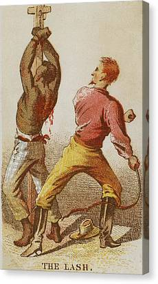 African American Slave Being Whipped Canvas Print by Everett