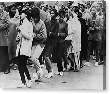 African American Women Dance At A Civil Canvas Print by Everett