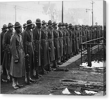 African Americans In The U.s. Army Canvas Print by Everett