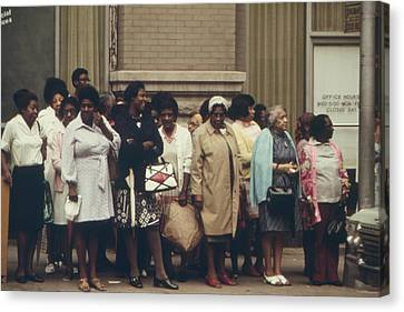African Americans Mostly Women Waiting Canvas Print by Everett
