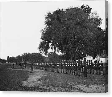 African Americans Soldiers Of The 29th Canvas Print by Everett