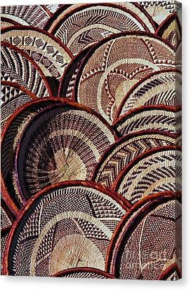 Canvas Print featuring the photograph African Art Baskets by Werner Lehmann