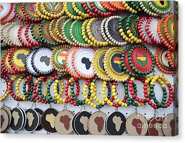 African Beaded Earrings Canvas Print by Neil Overy