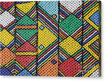 African Beadwork 1 Canvas Print by Neil Overy