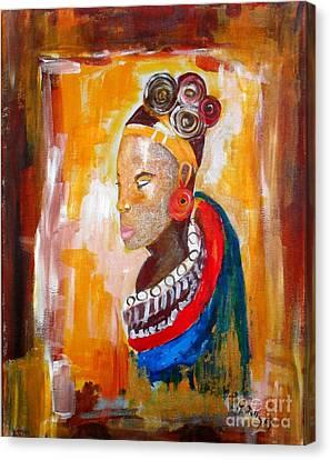 African Goddess Canvas Print by EvaMaria Stollmayer