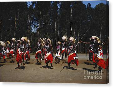 African Traditional Dances Canvas Print - African Intore Dancers by Elizabeth Kingsley