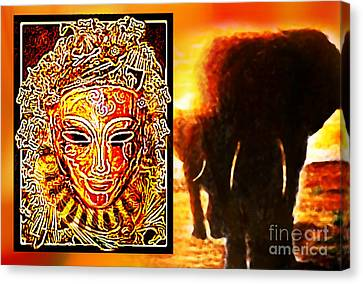 Canvas Print featuring the digital art African Spirit by Hartmut Jager