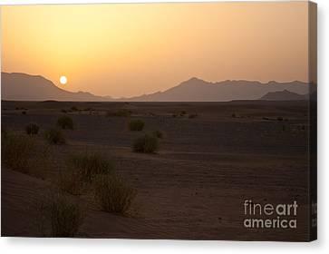 African Sun Canvas Print by Nabucodonosor Perez