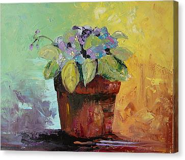 Canvas Print featuring the painting African Violet by Carol Berning