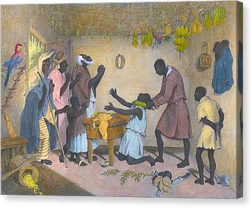 Afro-caribbeans Engaging Canvas Print by Everett