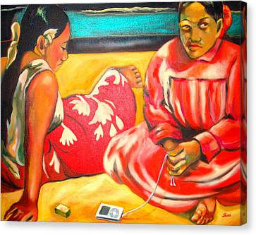 After Master Gaugin-my Own Homage Canvas Print by Susi Franco