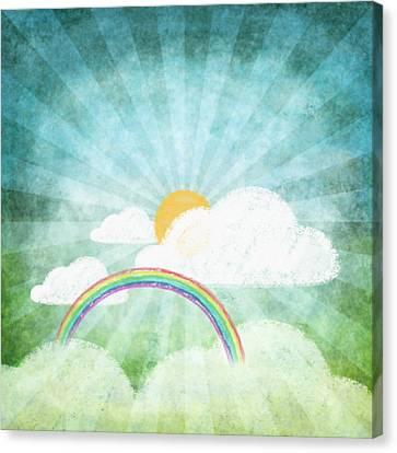 Sun Rays Canvas Print - After Rainy by Setsiri Silapasuwanchai