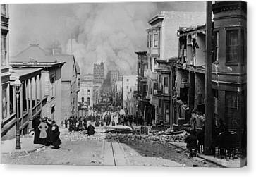 Observer Canvas Print - After The Earth Quake, San Francisco by Everett